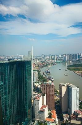 Вид на Хошимин с 49 этажа башни Bitexco