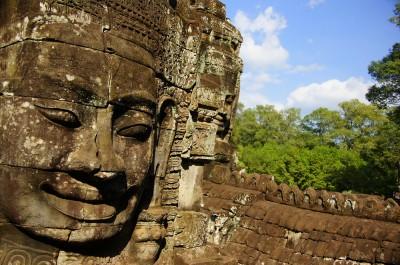Bayon Temple at Angkor, Siem Reap, Cambodia